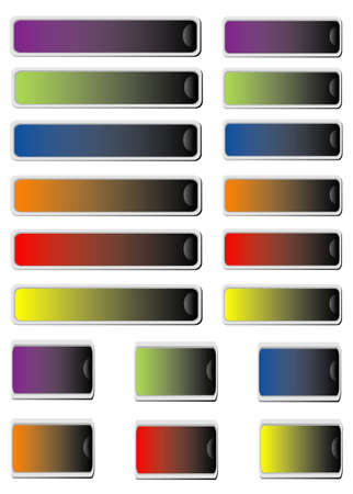 Colors set stickers Stock Vector - 8611420