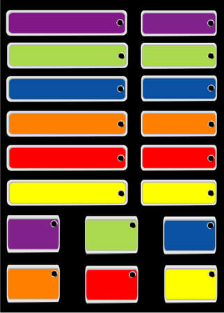 Collection of color tags  Stock Vector - 8611419