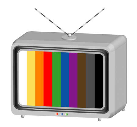 The object television test, object white isolated Stock Photo - 8638175