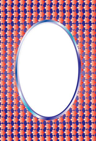 Photo frame,oval photo frame or text Stock Photo - 8638178