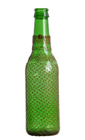 Gift wrapping empty beer bottle open