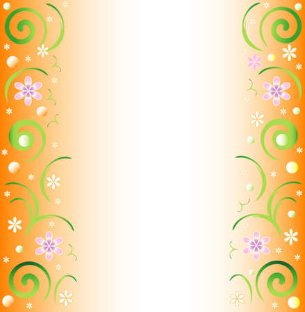 Floral spring background, white place for text, vector Illustration