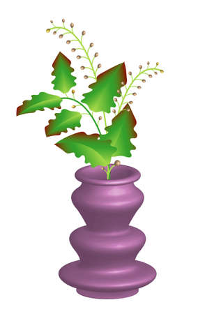 Flowering potted plants in a vase Stock Vector - 13691076