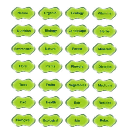 Set of labels with natural theme,Page for printing,