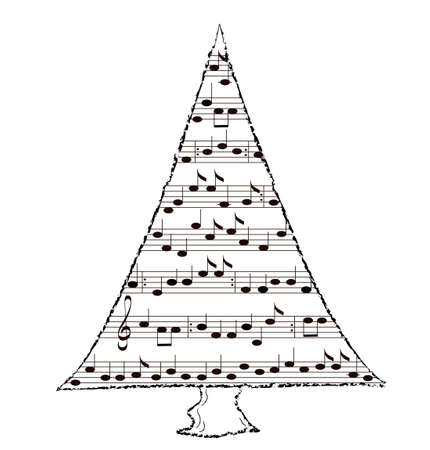 Christmas tree with music by Carol photo