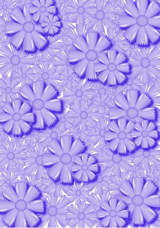 Flowers background, wallpaper with cornflower