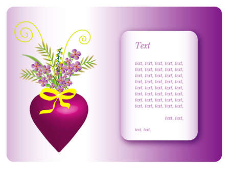 herbage: Greeting card for Valentines Day,frame for text,eps