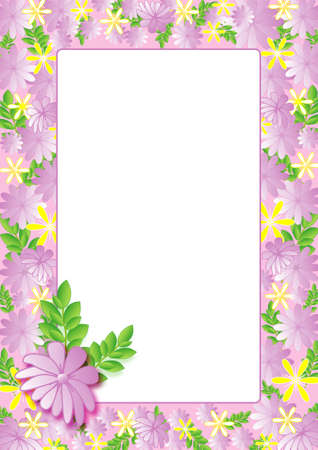 Decorative card with frame, sample for text Vector