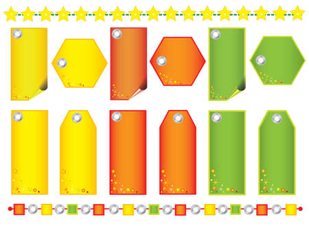 Christmas labels, rectangular shape,space for text Vector