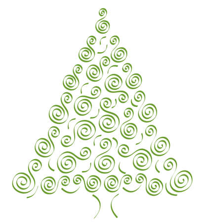 abstract decorative spruce, vector Vector