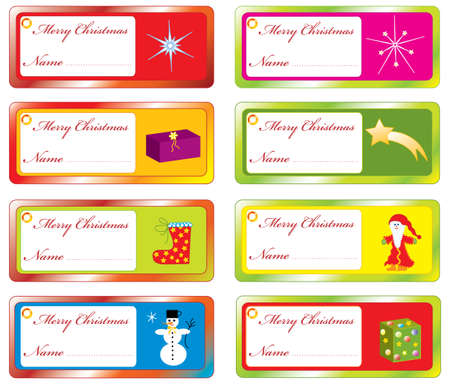 Collection of Christmas stickers for home use Vector