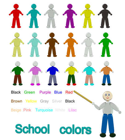 Pictures with children in teaching the color palette photo