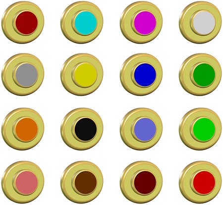 Collection golden buttons, 2d photo