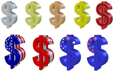 equities: Set dollars 3D