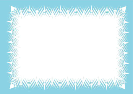 icy: Icy frame background vector format