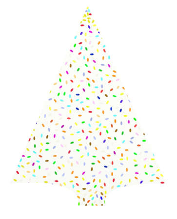 spruce: Single spruce christmas tree Stock Photo
