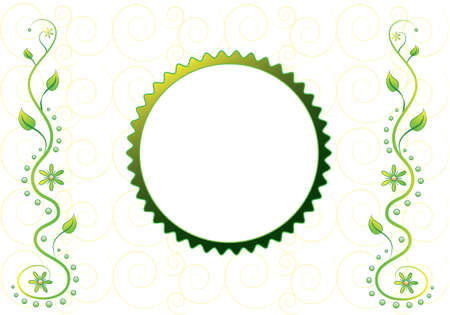 Ornamental backdrop for your text Illustration