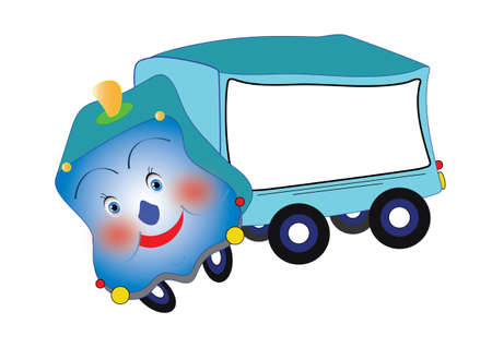The truck with the frame for your text Illustration