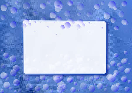 Background with bubbles and frame for your text.