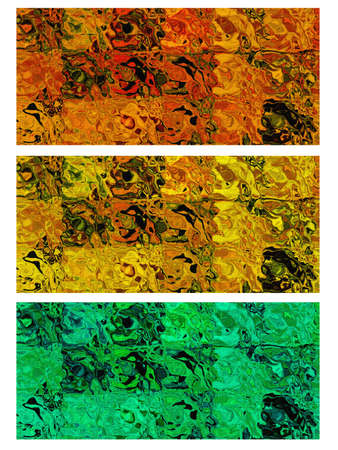 Brightly colored variation of the background in the texture.