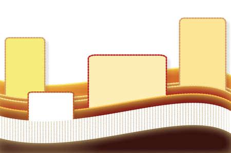 El fondo de las etiquetas en las ondas de color chocolate, formato vectorial y jpg.