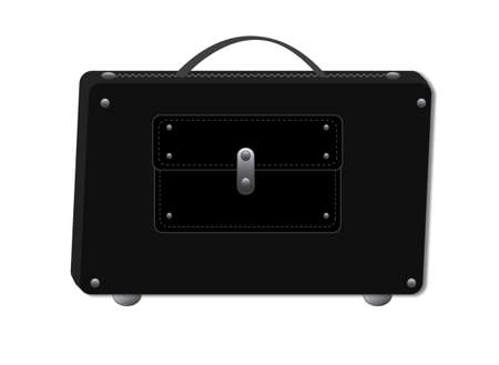Working office mens briefcase. Isolated, format vector and jpg.
