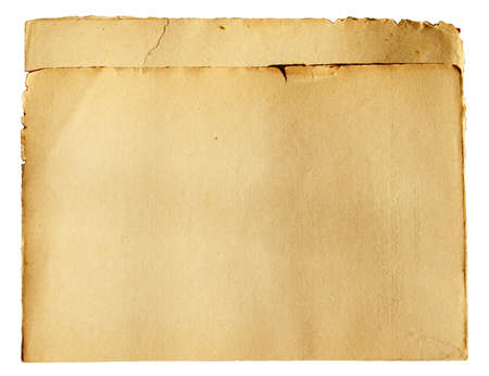 Double antique retro papers.Isolated. Stock Photo