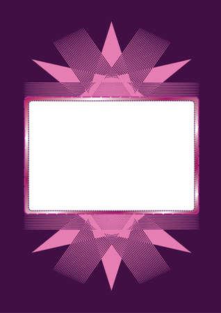 Illustration pattern background and frame for your text vector illustration. Иллюстрация
