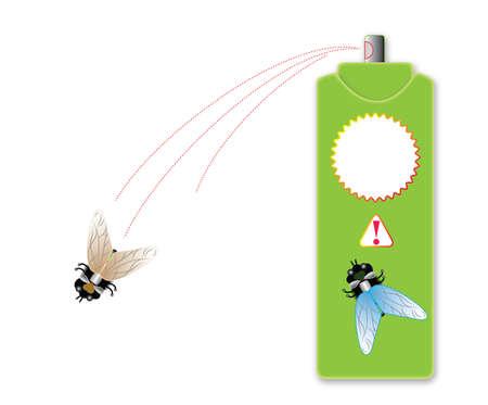 Vorbereitung zur Ausrottung von Insekten. Vektor. Vektorgrafik