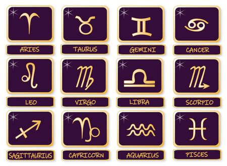 名前を持つ十二支のシンボル。ベクトル形式。