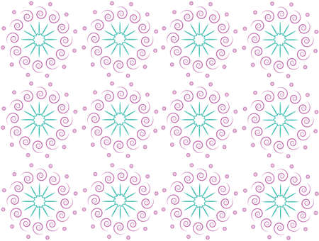 Regular decorative patterns on a white background. Vector.