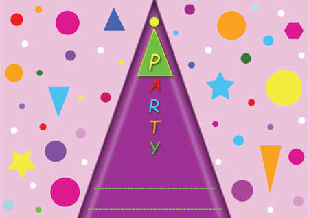 Vector illustrations for childrens birthday parties, invitation or congratulations with a place for your text.