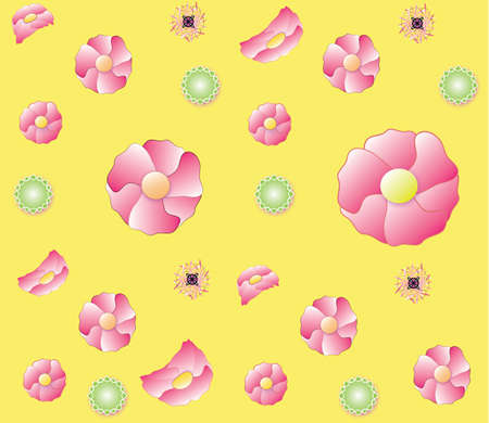 Floral background repeating color flowers pattern Reklamní fotografie