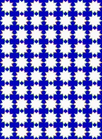 White stars with rainbow border.