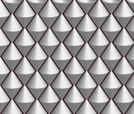 Shiny gray background with embossed shapes