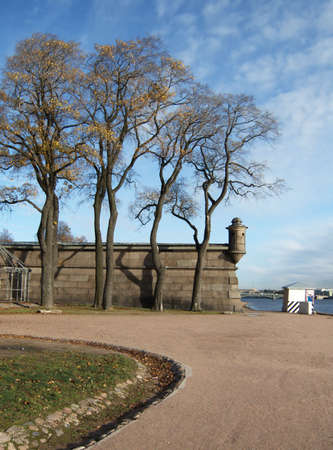 bulwark: Neva. Bulwark of the Peter  and Paul fortress.