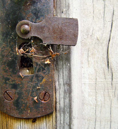 doorlock: The door-lock of the garden shed Stock Photo