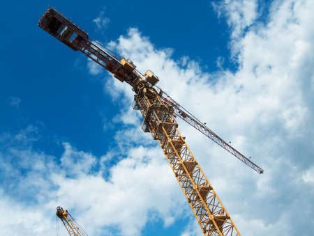 hoist: Hoist crane against the sky Stock Photo