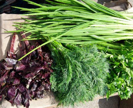 verdure: Market of verdure on street