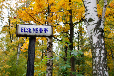 """theological: """"Nameless"""" foot-path of the Theological cemetery in St.Petersburg Stock Photo"""