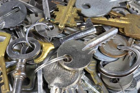iron hoops: Old keys