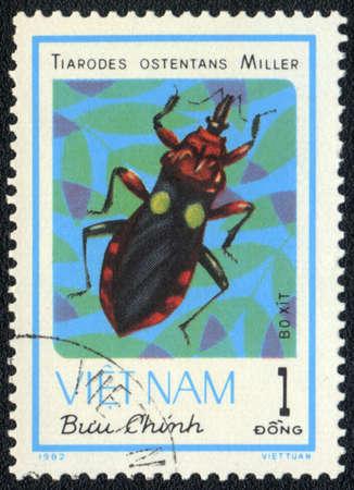VIETNAM - CIRCA 1982: A stamp printed in VIETNAM shows tiarodes ostentans miller, circa 1982 photo