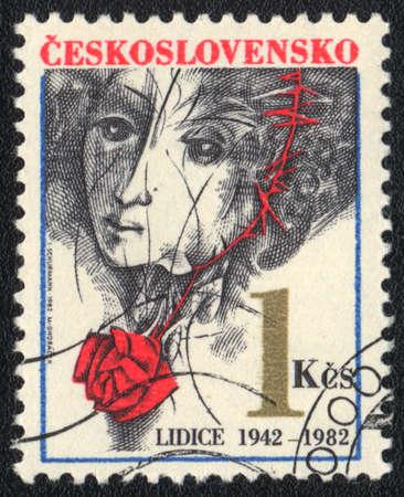 czechoslovakia: CZECHOSLOVAKIA - CIRCA 1982: A stamp printed in CZECHOSLOVAKIA  shows   Lidice, circa 1982 Stock Photo