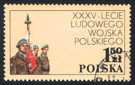 POLAND - CIRCA 1981: A stamp printed in POLAND   shows   35 years Polish Peoples Army, from series, circa 1981 photo