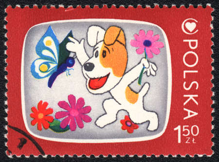 philatelic: POLAND - CIRCA 1975: A stamp printed in POLAND   shows   Television for Children, from series, circa 1975