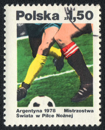 POLAND - CIRCA 1978: A stamp printed in POLAND   shows World Championships in footbal, circa 1978 photo