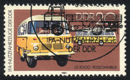 omnibus: DDR - CIRCA 1982: A stamp printed in DDR   shows   Omnibus LD 3000 circa 1982