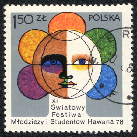 POLAND - CIRCA 1978: A stamp printed in POLAND   shows XI International Festival of Youth and Students in Havana, from series, circa 1978 photo