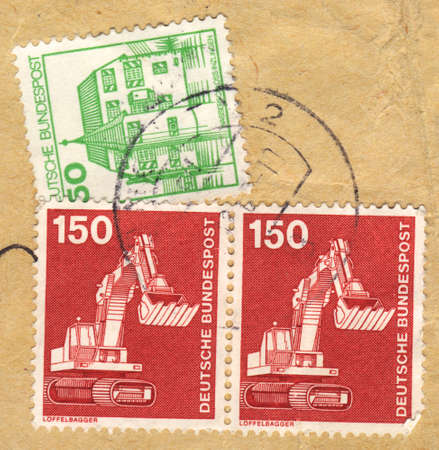 bundespost: POLAND - CIRCA 1980: A stamp printed in POLAND   shows    deutsche bundespost, from series, circa 1980