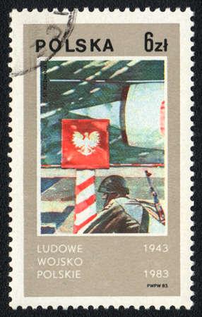 POLAND - CIRCA 1983: A stamp printed in Poland  shows Polish peoples army,  circa 1983 photo
